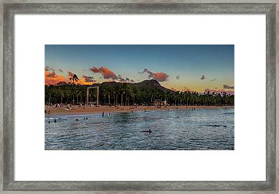 Kuhio Beach Framed Print by Susan Rissi Tregoning