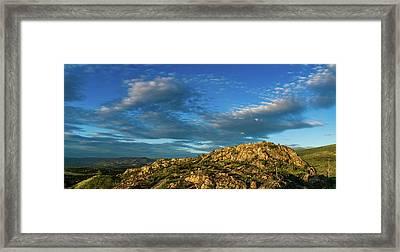 Kuipers' Peak In The Sun Framed Print