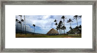 Kukulu Hale Kahului Maui Hawaii Panorama Framed Print by Sharon Mau