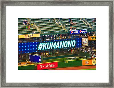 Kuma No No Framed Print
