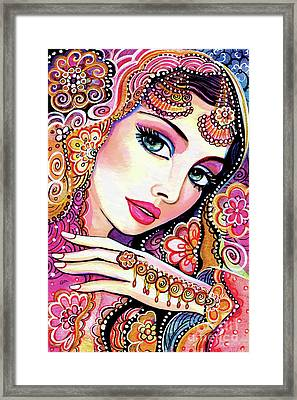 Kumari Framed Print by Eva Campbell