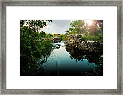 Kumeyaay Dam Framed Print by Frank Garciarubio