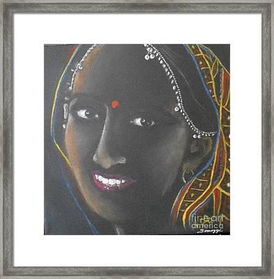 Kumkuma -- Close-up Portrait Of Indian Woman Framed Print