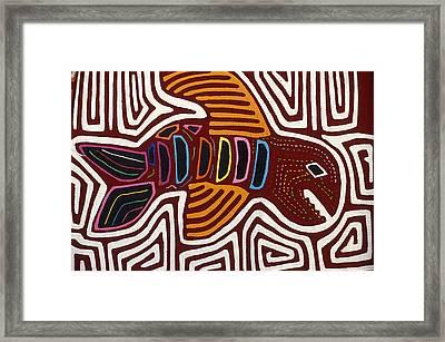 Kuna Fish Mola Panama Framed Print