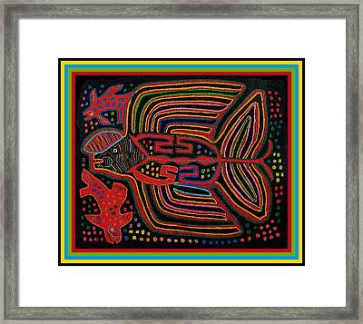Kuna Indian Flying Fish  Framed Print