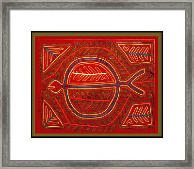Kuna Indian Stingray Mola Framed Print