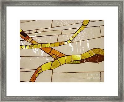 Kunce Mosaic Framed Print by Sarah Loft