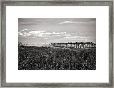 Kure Beach Pier Framed Print