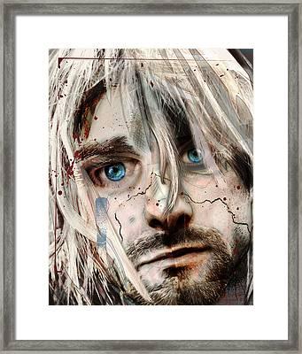 Kurt Cobain - Verse Chorus Hearse Framed Print by Sam Kirk