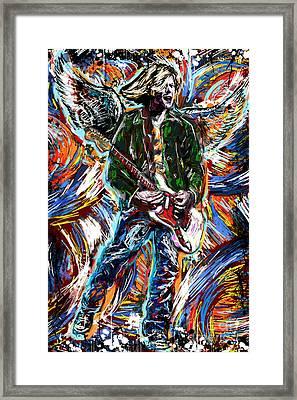 Kurt Cobain Art  Framed Print