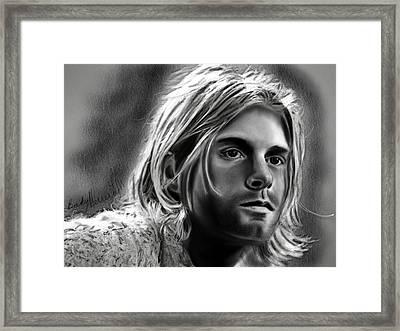 Kurt Cobain- Nirvana Framed Print