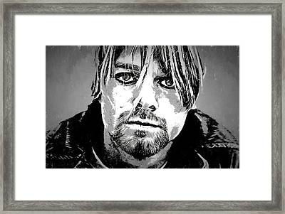 Kurt Cobain Charcoal Framed Print