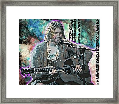 Kurt Cobain - Come As You Are Framed Print