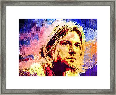 Kurt Cobain Framed Print by Svelby Art