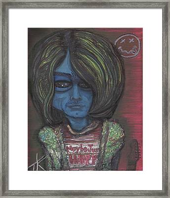 Framed Print featuring the painting Kurt Cobalien by Similar Alien