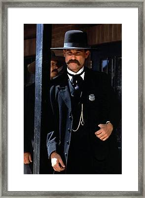 Kurt Russell As Wyatt Earp Tombstone Arizona 1993-2015 Framed Print by David Lee Guss