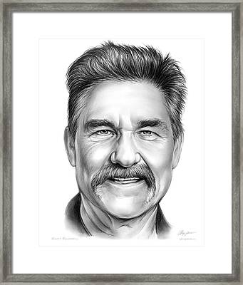 Kurt Russell Framed Print by Greg Joens
