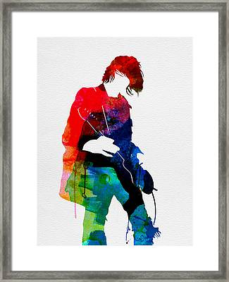 Kurt Watercolor Framed Print by Naxart Studio