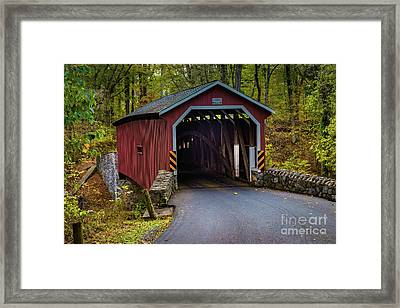 Kurtz Mill Covered Bridge Framed Print