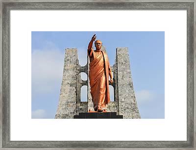 Kwame Nkrumah Memorial Park Monument Framed Print by Felix Lipov