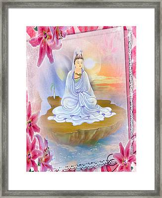 Kwan Yin - Goddess Of Compassion 1 Framed Print by Lanjee Chee