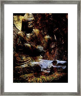Kwan Yin Meditates Framed Print
