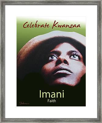 Kwanzaa Imani Framed Print