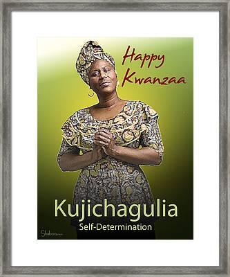 Kwanzaa Kujichagulia Framed Print