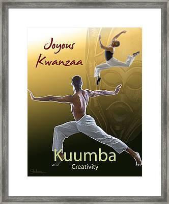 Kwanzaa Kuumba Framed Print