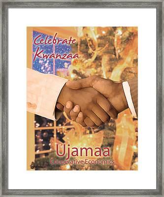 Kwanzaa Ujamaa Framed Print