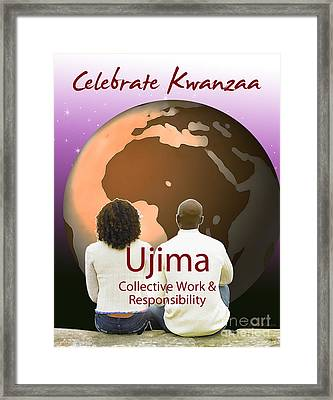 Kwanzaa Ujima Framed Print by Shaboo Prints
