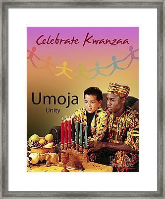 Kwanzaa Umoja Framed Print