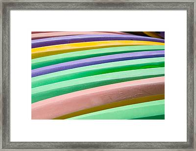 Kyak Rainbow Framed Print