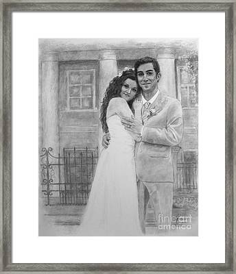 Kyle And Liliia Wedding Day Portrait Framed Print