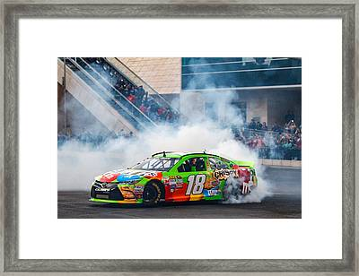 Kyle Busch - 2015 Nascar Champion  Framed Print by James Marvin Phelps