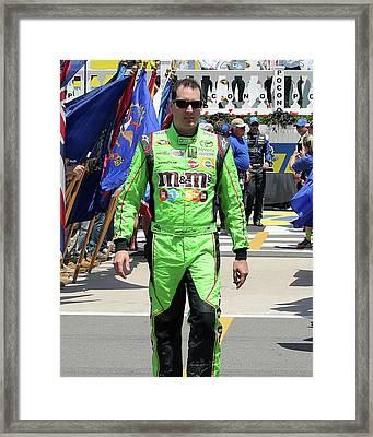 Kyle Busch Framed Print by Mark A Brown