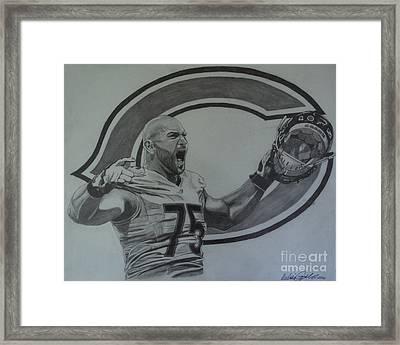 Kyle Long Of The Chicago Bears Framed Print