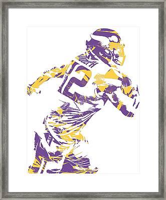 Kyle Rudolph Minnesota Vikings Pixel Art 5 Framed Print