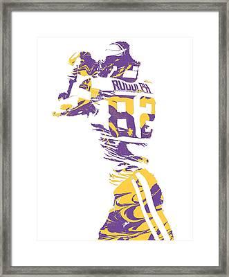 Kyle Rudolph Minnesota Vikings Pixel Art 6 Framed Print