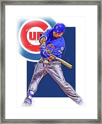 Kyle Schwarber Chicago Cubs Oil Art Framed Print