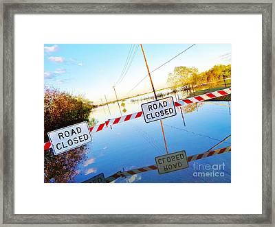 Kyle Texas Flooding October 30 2015 Framed Print