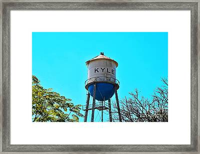 Kyle Texas Water Tower Framed Print