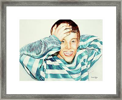 Kyle's Smile Or Fragile X Stressed Framed Print