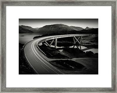 Kylesku Bridge Framed Print by Dave Bowman