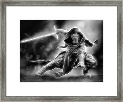 Kylo Ren Nothing Will Stand In Our Way Framed Print