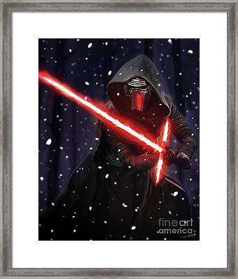 Kylo Ren Framed Print by Paul Tagliamonte