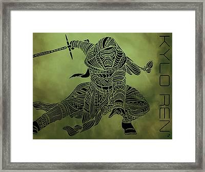 Kylo Ren - Star Wars Art  Framed Print