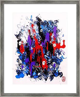 Framed Print featuring the painting Kyodai Ika No Hokaku by Roberto Prusso