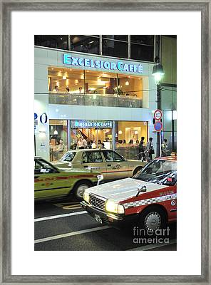 Kyoto Coffee Shop Framed Print by Andy Smy