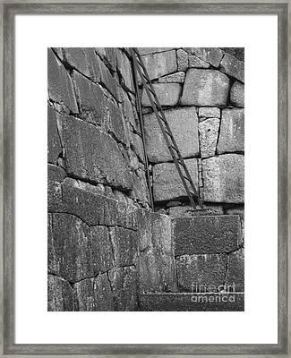 Kyoto Palace Stone Wall Framed Print by Carol Groenen